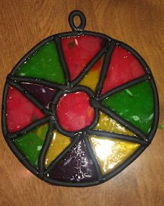 Stained Glass Craft made for our Medieval Unit