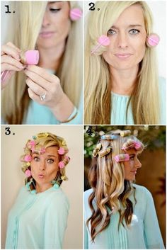 how to get the perfect loose curl using foam rollers. Mom use to put these in my hair all the time! Im so getting some! So easy