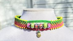 Cuff Pineapple Charm Beaded Beach Hemp Choker