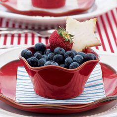 red, white and blueberries!