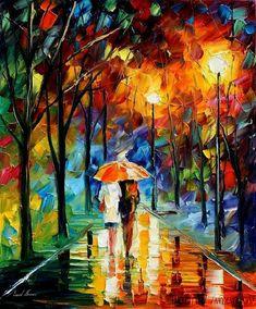 Orange Umbrella by Leonidafremov.deviantart.com on @deviantART