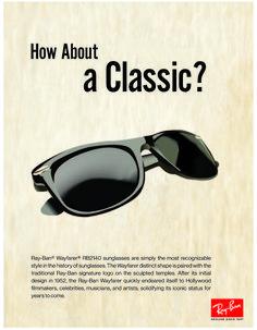 Ray Ban Wayfarer advertisements - Josten Dooley Design Ray Ban Outlet 67ba1fe565