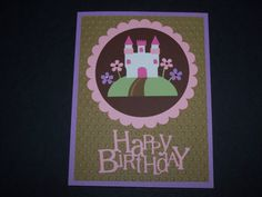 Happy birthday card for girl - using Silhouette Cameo