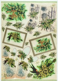 Rice Paper for Decoupage Decopatch Scrapbook Craft Sheet Vintage Cards and Birds | eBay