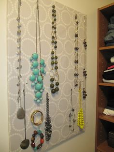 everyday organizing: Easy DIY Jewelry Board & Our Clean Master Closet