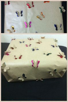 3D Butterfly gift wrapping made by me