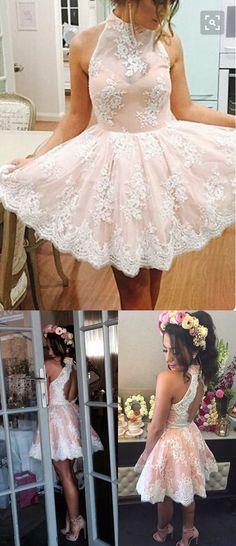 Charming Homecoming Dress,A-line Homecoming Dress,Lace Homecoming Dress,Short Homecoming Dress,Homecoming Dress,Homecoming Dresses,2017 Homecoming Dress,2017 Homecoming Dresses