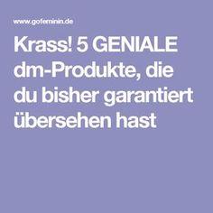 Krass! 5 GENIALE dm-Produkte, die du bisher garantiert übersehen hast
