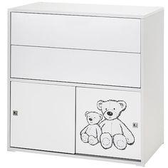 Schardt – Kommode Clic 2-türig + 2 Schubladen,Weiß/Teddy #kommode #kinderzimmer