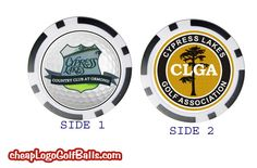 Side 1 of this design utilizes a photo of the club's sign cropped to simulate a logo golf ball.