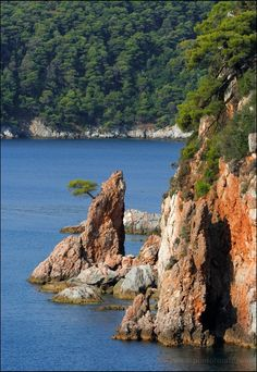 Rocks, Island of Skopelos, Greece