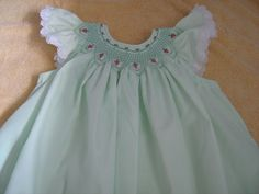 Smocked Strawberry Bishop Dress sz 5 to 6 by BaileighsBoutique. $45.00, via Etsy.