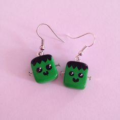 """Parrure fimo collier + boucles """"collection Halloween Frankenstein"""" : Parure par ally-mode"""