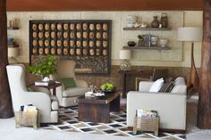 The #library at Viceroy Riviera Maya is designed with a wall of #masks