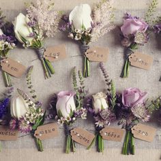 Lilac, pink and ivory buttonholes www. - Lilac, pink and ivory buttonholes www.rose-cottage-… Lilac, pink and ivory but - Wedding Arrangements, Wedding Centerpieces, Flower Arrangements, Wedding Decorations, Wedding Flower Guide, Floral Wedding, Wedding Colors, Wedding Ideas, Wedding Rustic