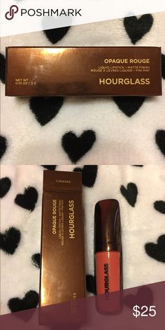 """Hourglass Liquid Lipstick in the shade """"Canvas"""" Canvas is also described as a dusty rose color on the Sephora website. It's been swatched once, but I always go back to my favorite liquid lipsticks. Hourglass Makeup Lipstick"""