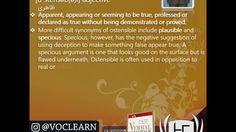 کلمه ostensible از کتاب Verbal Advantage – درس ۱