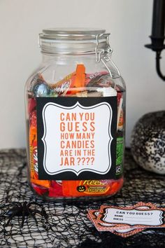 halloween party games guess how many candy game