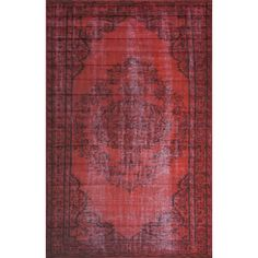 Features:  -Construction: Machine made.  Technique: -Machine woven.  Primary Color: -Red.  Material: -Synthetic.  Product Care: -These rugs can be spot treated with a mild detergent and water, profess