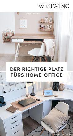 Von zuhause aus arbeiten hat viele Vorteile: Wir können unseren Tagesablauf selbst bestimmen, haben viel Freiraum für Kreativität und müssen keine langen Wege zum Arbeitsplatz auf uns nehmen. Und das Beste für alle Interior-Fans: Wir dürfen unser Office ganz nach unserem eigenen Geschmack einrichten! Wir sind ja bekanntermaßen am produktivsten, wenn wir uns wohl fühlen und uns konzentrieren können./Westwing Home Office Büro Zuhause arbeiten modern Arbeitsplatz Schreibtisch Idee Inspiration 2021 Corner Desk, Modern, Cabinet, Storage, Interior, Design, Furniture, Home Decor, Inspiration