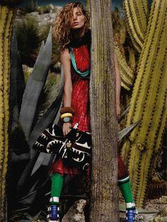Vogue UK March 2014 Model: Daria Werbowy Photographer: Mario Testino | Cynthia Reccord