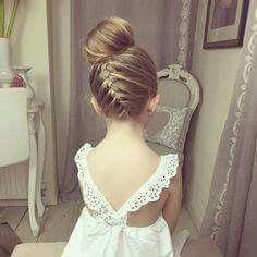 Peinados de ninas con cabello recogido