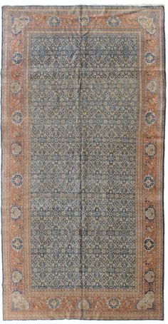 Antique Tabriz Rugs Gallery: Antique Tabriz Rug, Hand-knotted in Persia; size: 7 feet 2 inch(es) x 14 feet 0 inch(es)