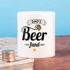 Personalised Ceramic Money Box - Dad's Beer Fund | GettingPersonal.co.uk