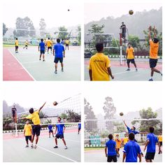 The Inter House Volley Ball Tournament was played between #LincolnHouse and #ChurchillHouse. #Lincoln won by 2-1.