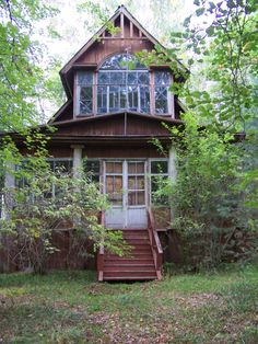 Former summer residence of a famous Soviet Opera Singer Future House, My House, Cabins And Cottages, Indian Summer, Cozy Cottage, Cabins In The Woods, Abandoned Buildings, Interior And Exterior, Ukraine