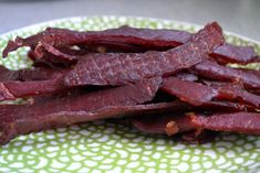 Traeger's Teriyaki Beef Jerky recipe--would use coconut aminos in place of soy and coconut sugar in place of regular sugar. Jerky Recipes, Traeger Recipes, Grilling Recipes, Beef Recipes, Soup Recipes, Charcuterie, Teriyaki Beef Jerky, Fresco, Gastronomia
