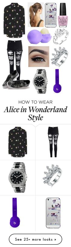 """Untitled #516"" by lucy-smith-2 on Polyvore featuring Yves Saint Laurent, Glamorous, Vans, France Luxe, Casetify, Eos, OPI, XOXO and Beats by Dr. Dre"