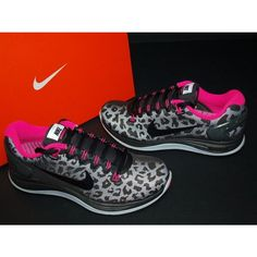 Nike Wmns Lunarglide 5 V Shield Black Pink Leopard Running Shoes