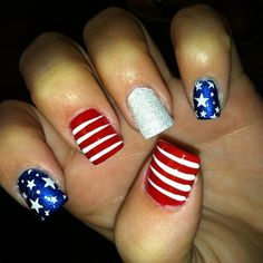 4th Of July Nail Designs, might do these for our fourth of July party ( :