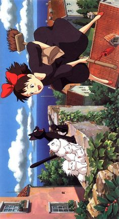 Top 7 Best Songs From Studio Ghibli's Kiki's Delivery Service 魔女の宅急便 Totoro, Studio Ghibli Art, Studio Ghibli Movies, Studio Ghibli Poster, Studio Ghibli Characters, Animes Wallpapers, Cute Wallpapers, Personajes Studio Ghibli, Studio Ghibli Background