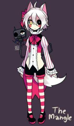 fnaf 2 in anime - mangle Fnaf Foxy Plush, Foxy And Mangle, Five Nights At Freddy's, Pole Bear, Gijinka Pokemon, Fnaf Characters, Funtime Foxy, Fnaf Sister Location, Fnaf Drawings