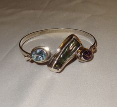 Vintage Sterling Silver Amethyst Aquamarine and by JimRabun, $50.00