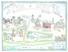 Hand Drawn Map  Extra Large by AmyMadeCreations on Etsy, $165.00