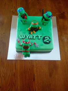Teenage mutant ninja turtle cake-all edible
