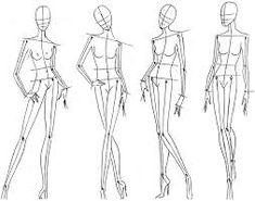 Resultado de imagen para figurines de moda patrones para ilustración de moda