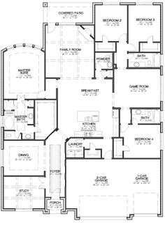 Alta Vista | Megatel Homes: take the dining room and study - combine it with the master suite. Add pocket doors between dining room and hall. Works for me!