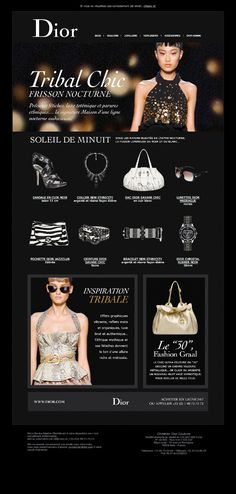 Dior Newsletters - 13decembre - Séverin Boonne Web Design Gallery, Web Ui Design, Layout Design, Graphic Design, Email Design Inspiration, Layout Inspiration, Dior, Best Email, Email Marketing
