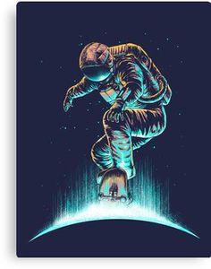 Space Grind Canvas Print