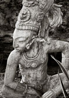 photography in Mexico -- Statue of an ancient Mayan warrior in a jungle setting in Mexico's Riviera Maya region.Travel photography in Mexico -- Statue of an ancient Mayan warrior in a jungle setting in Mexico's Riviera Maya region. Ancient Aliens, Ancient History, Art History, Riviera Maya, Maya Civilization, Photo Print, Inka, Aztec Art, Mexican Art