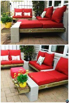 10 idées de bricolage pour utiliser des blocs de béton de manière créative dans le jardin - DIY Idees Creatives