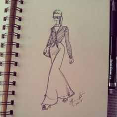 Good morning... sketching some more... #fashion #fashionsketch #fashionillustrator #fashionillustration #model #ink #hautecouture #haute #couture #sharpie #sharpieart #illustrator #illustration #ilovetodraw #tagsforlikes #WCW