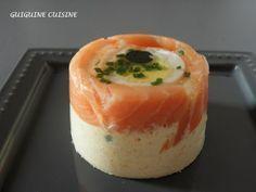 Aspic saumon fumé & mousse de crabe