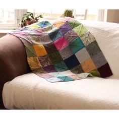 End-less Squares Blanket Knitting pattern by OwlCat Designs – knitting blanket patchwork Crochet Yarn, Crochet Hooks, Christmas Knitting Patterns, Knit Patterns, Baby Scarf, Universal Yarn, Crib Blanket, Plymouth Yarn, Square Blanket