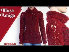 CROCHET WINTER JACKET Crochet Cardigan Pattern, Crochet Blouse, Crochet Patterns, Crochet Hooks, Crochet Baby, Crochet Top, Crochet World, Crochet Winter, Summer Patterns