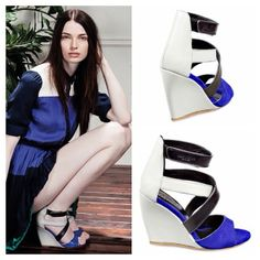 Welcome Spring  #serafini #chaussures #sandals #serafinishop #shopping #ss14 #etoile #spring #bluette #wedge #style #madeinitaly